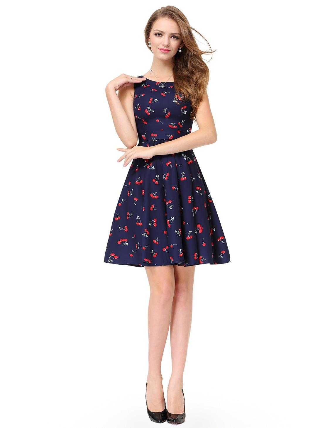 Cocktail dresses Simple Fashion Sleeveless Short Casual Dress 05488 ...