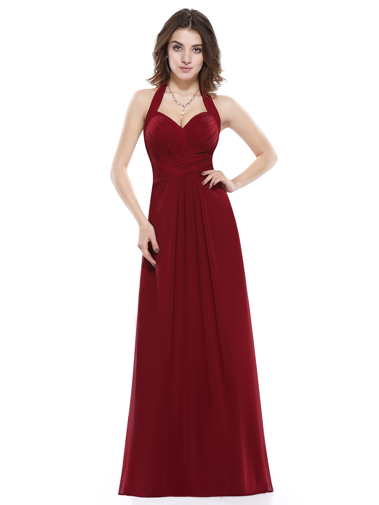 Women 39 s long sexy halter evening wedding bridesmaid prom for Formal dress for women wedding