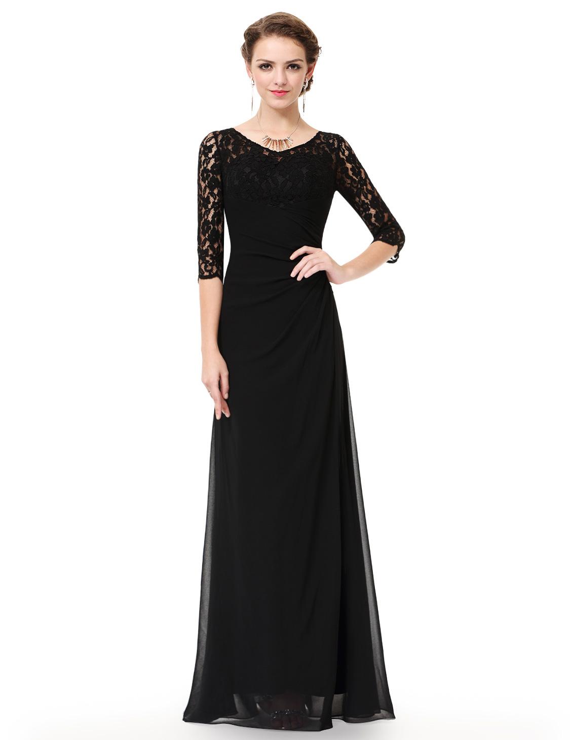 Ever Pretty Women s Black Long Elegant Evening Formal