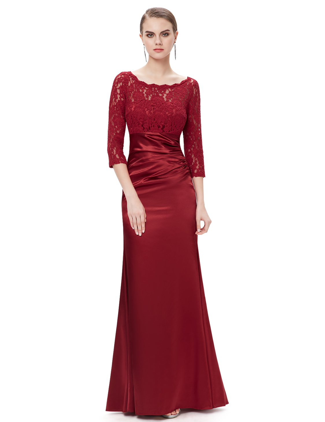 ever pretty womens sleeves lace long evening prom dress
