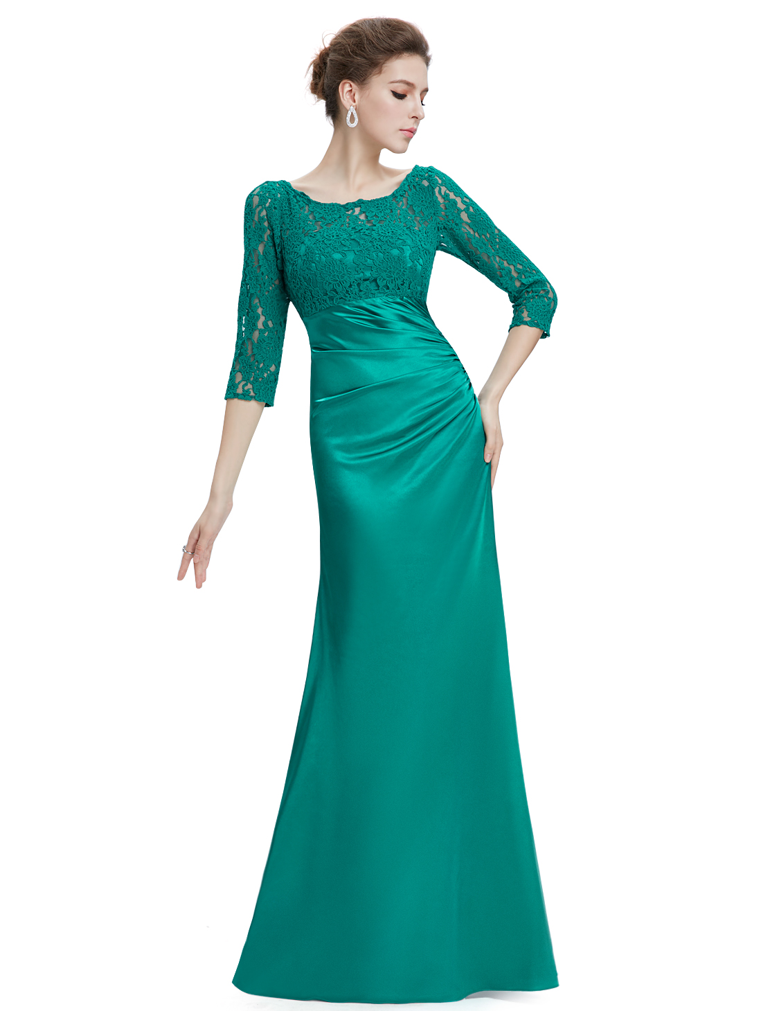 Ever Pretty Women\'s Sleeves Lace Long Evening Prom Dress Formal ...