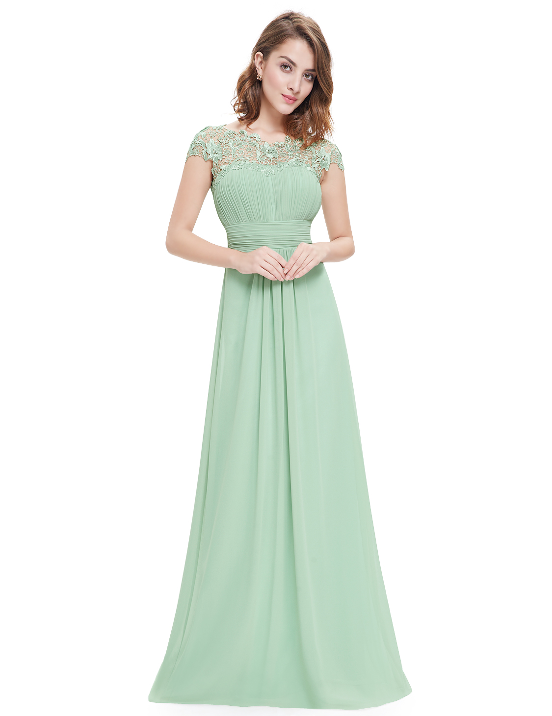 2016 Women's Bridesmaid Lace Formal Evening Ball Gown Prom ...