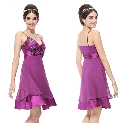 Elegant Purple Empire Waist Cocktail Dress 03003 Size S on eBay.ca (item 320454131206 end time  02-Dec-09 21:09:02 EST)