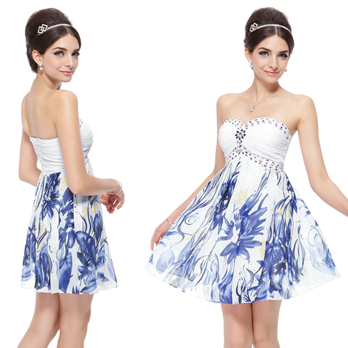 Printed-Ruffles-Strapless-Ruched-Bust-Short-Party-Chiffon-Cocktail-Dress-03380