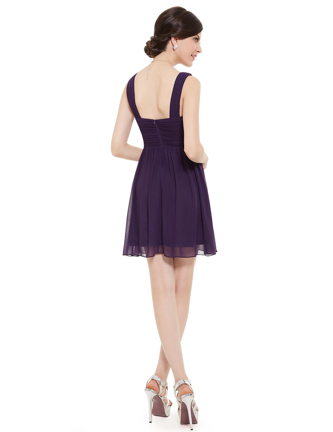 Ever Pretty Lady s Purple V Neck Sleeveless Short