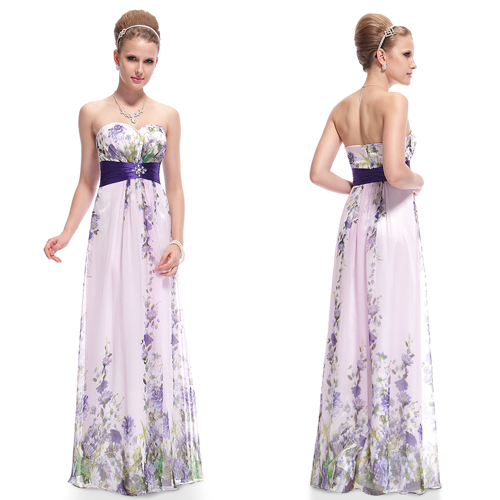 Printed-Strapless-Rhinestones-Ruched-Waist-Chiffon-Maxi-Long-Party-Dress-08007