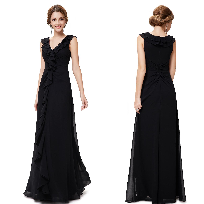 Ever Pretty NEW Fashion Elegant Black Maxi Evening Party