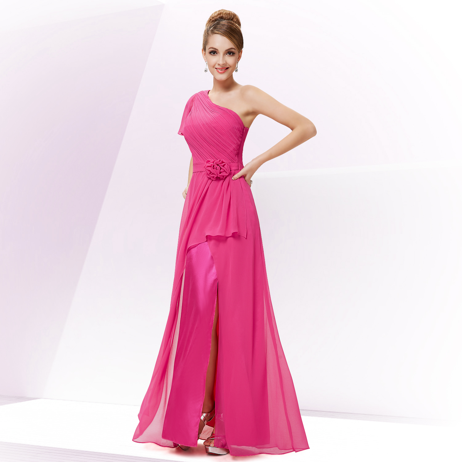 Ever Pretty Hot Pink Long Evening Bridesmaid Designer