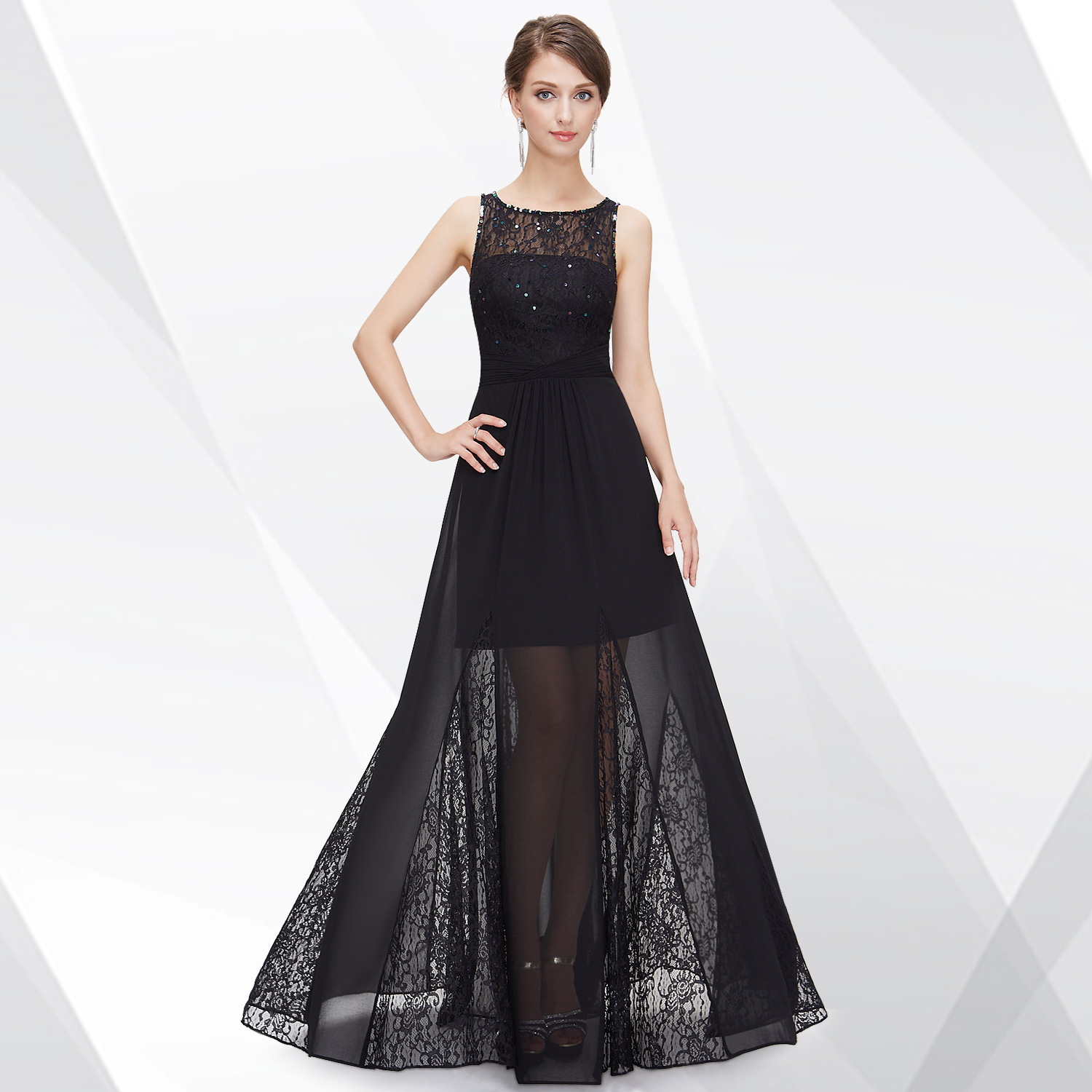 Ever Pretty Elegant Long Black Formal Maxi Evening ...