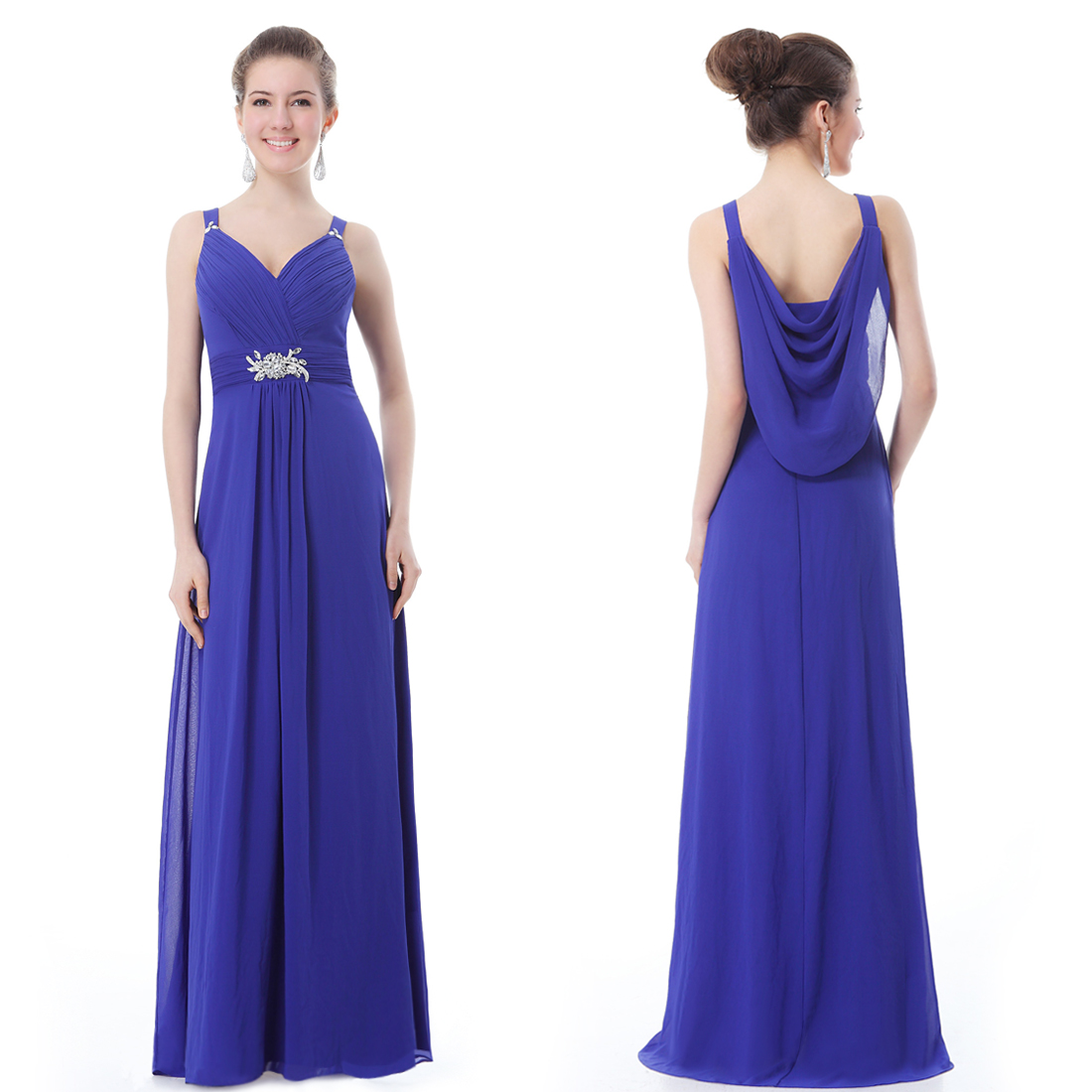 New Long Evening Formal Prom Party Gown Dress 09056 UK