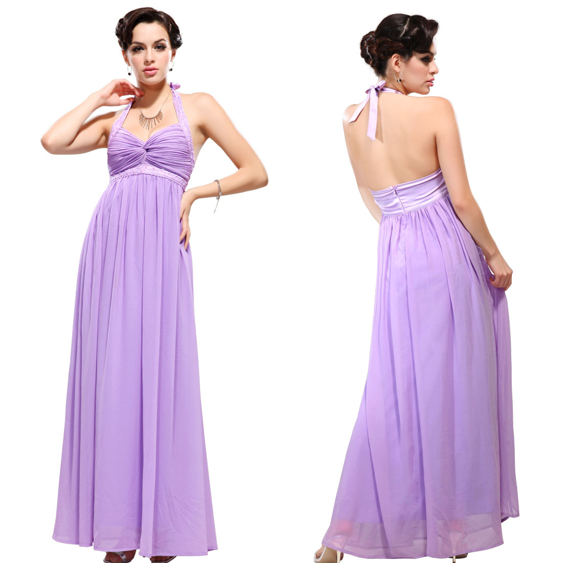 A flowy, Grecian bridesmaids dress.
