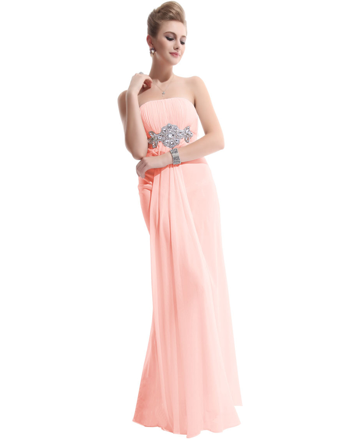 Ever pretty ladies long evening bridesmaid party beach for Ever pretty wedding dresses