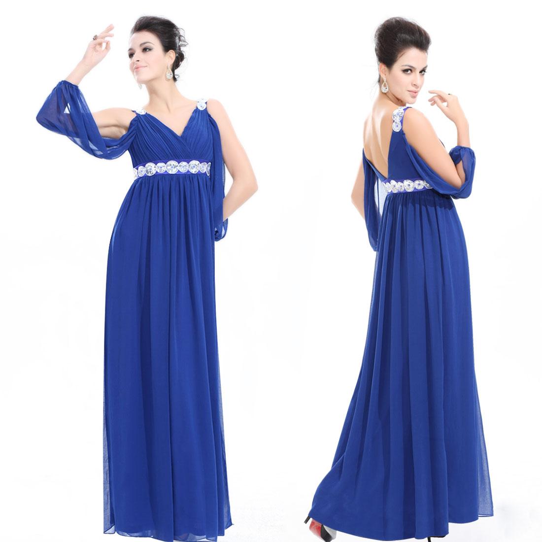 Сшить платье в пол с длинными рукавами