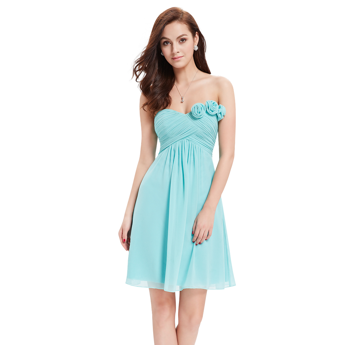 Ever-Pretty Ever Pretty Strapless Flower Ruffles Padded Elegant Chiffon Bridesmaid Dress 03543 at Sears.com