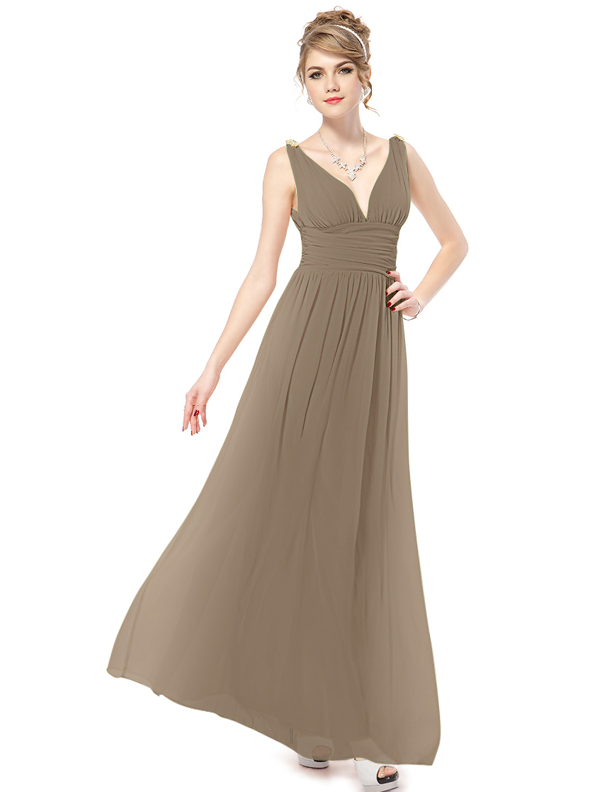 Ever-Pretty Ever Pretty Elegant V-neck Long Chiffon Crystal Maxi Evening Dress 09016 at Sears.com