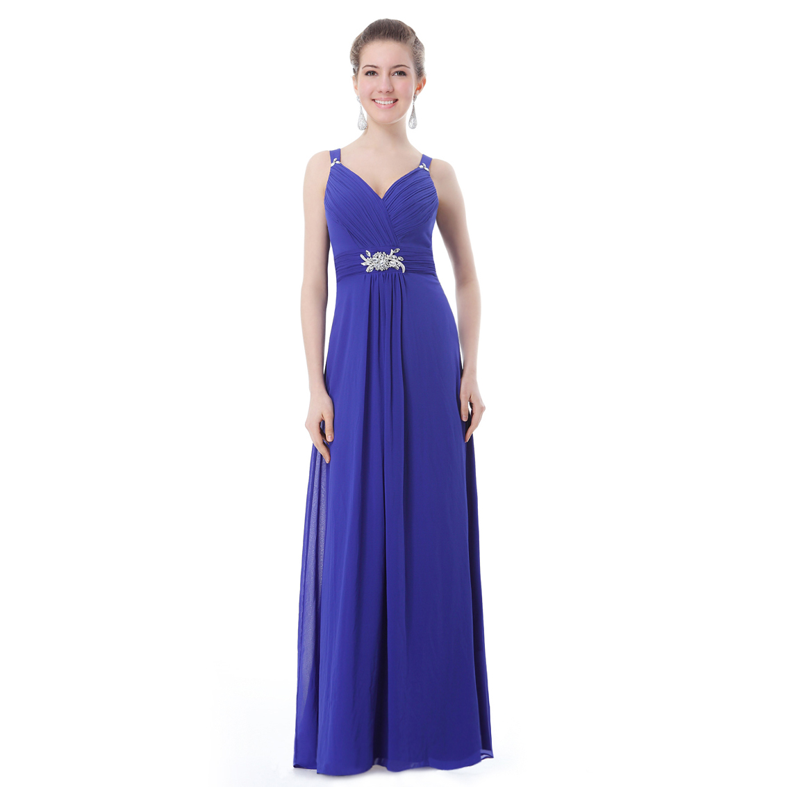 Ever-Pretty Ever Pretty Padded Gorgeous V-neck Diamante Long Evening Dress 09056 at Sears.com