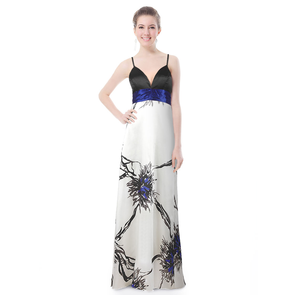 Ever-Pretty Ever Pretty Sexy Water Colour Print Long Evening Prom Gown 09085 at Sears.com