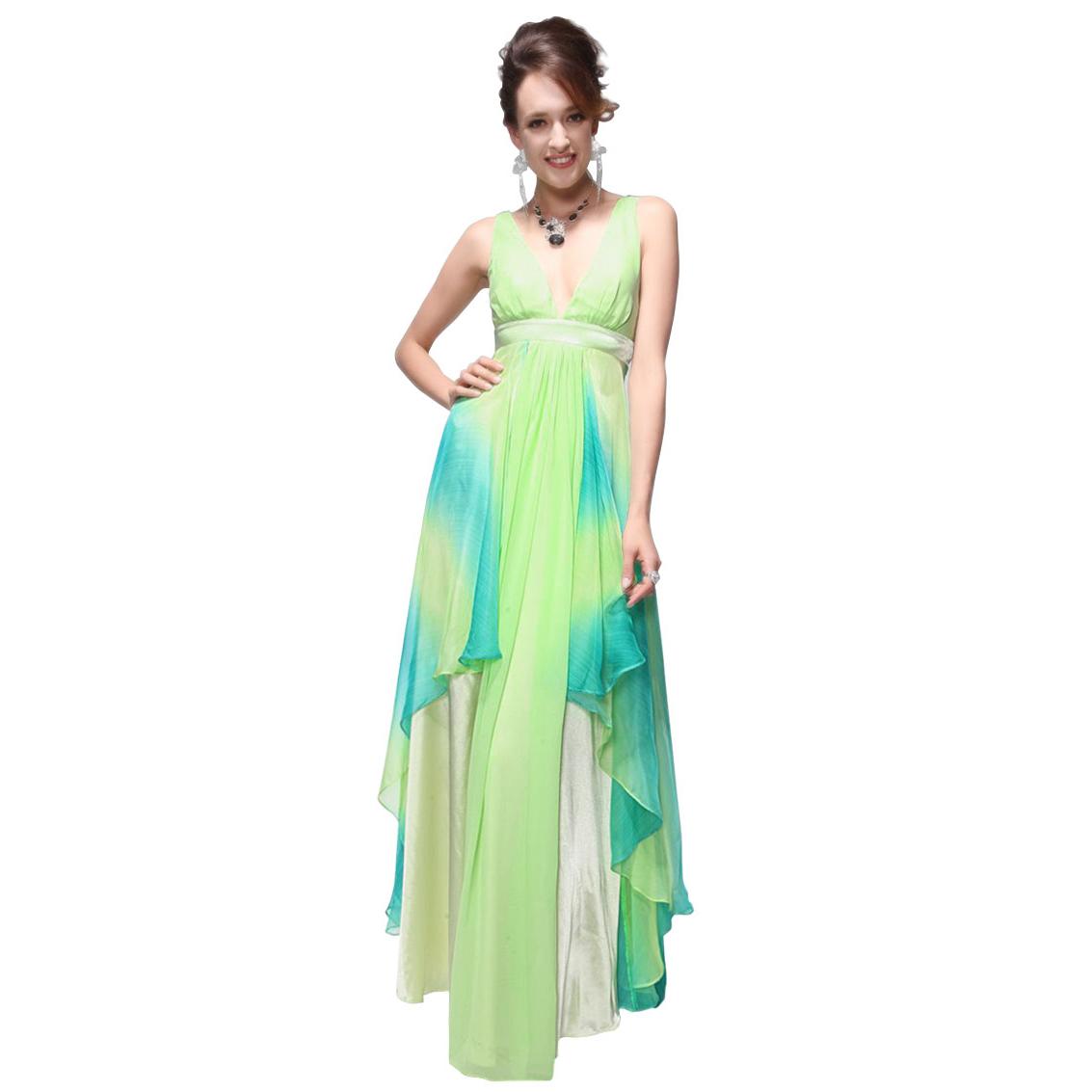 Ever-Pretty Ever Pretty Charming Empire Line Double Deep V Neck Evening Dresses 09394