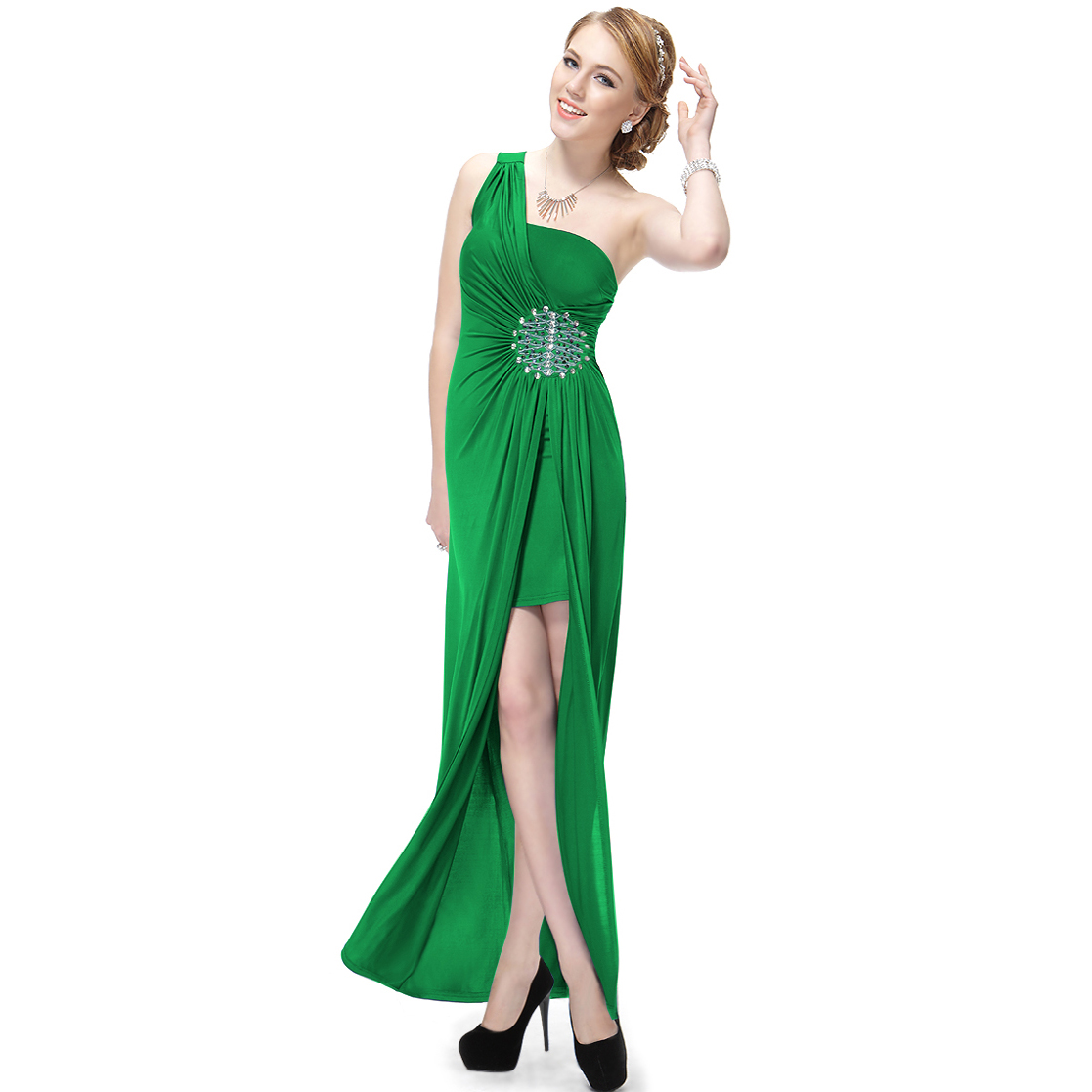 Ever-Pretty Ever Pretty Split Flirty Rhinestones One Shoulder NWT Long Prom Gown 09542 at Sears.com