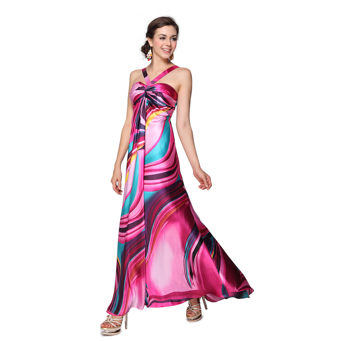 Ever-Pretty BNWT Pinks Ruffles Satin Padded Trailing Sexy Long Evening Dress 09648 at Sears.com