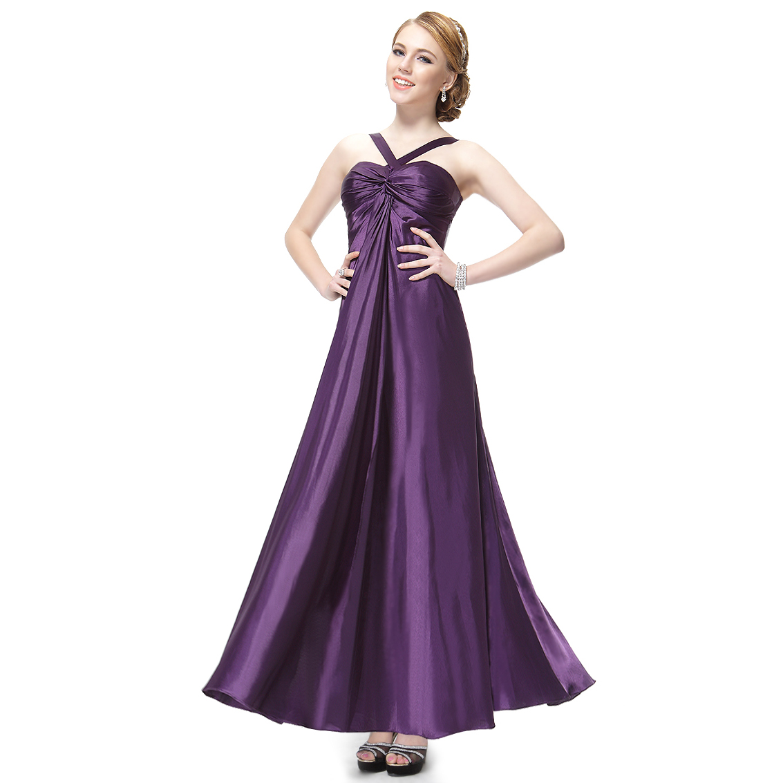 Ever-Pretty Ever Pretty Ruffles Satin Padded Trailing Sexy Long Evening Dress 09656 at Sears.com