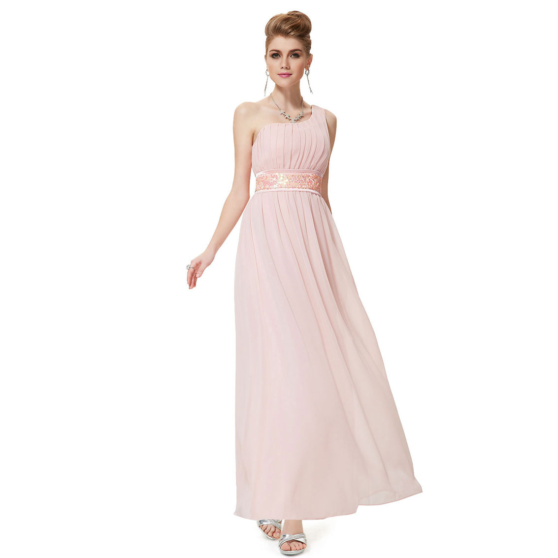 Ever-Pretty Ever Pretty One Shoulder Empire Line Sequins Padded Long Evening Gown 09770 at Sears.com