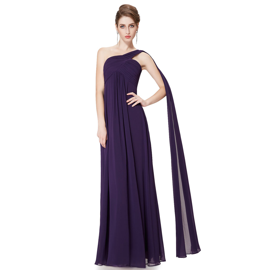 Ever-Pretty Ever Pretty A-line One Shoulder Ruffles Long Evening Dress 09816 at Sears.com