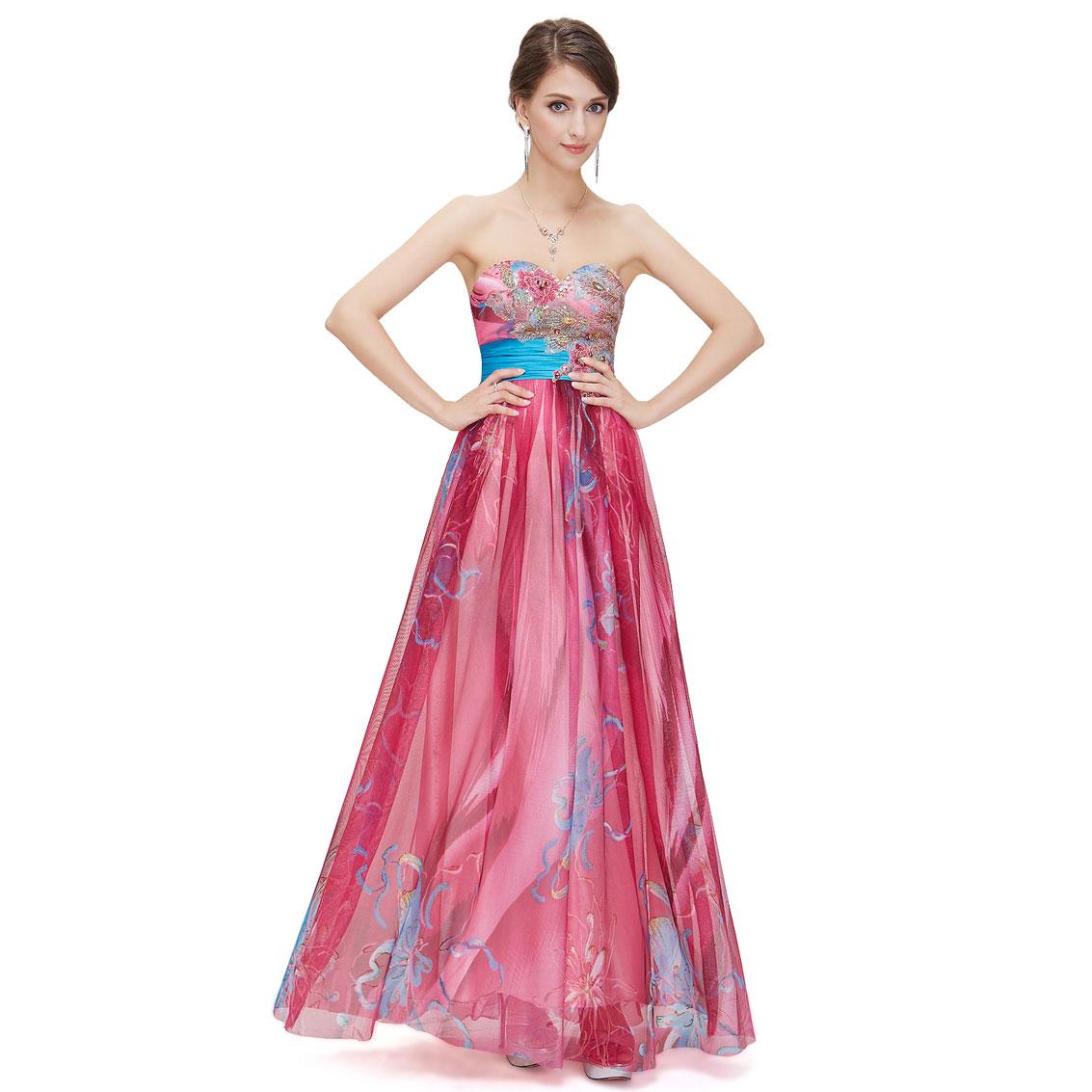 Ever-Pretty Ever Pretty Floral Printed Sequins Strapless Empire Line Long Evening Dress 09820 at Sears.com