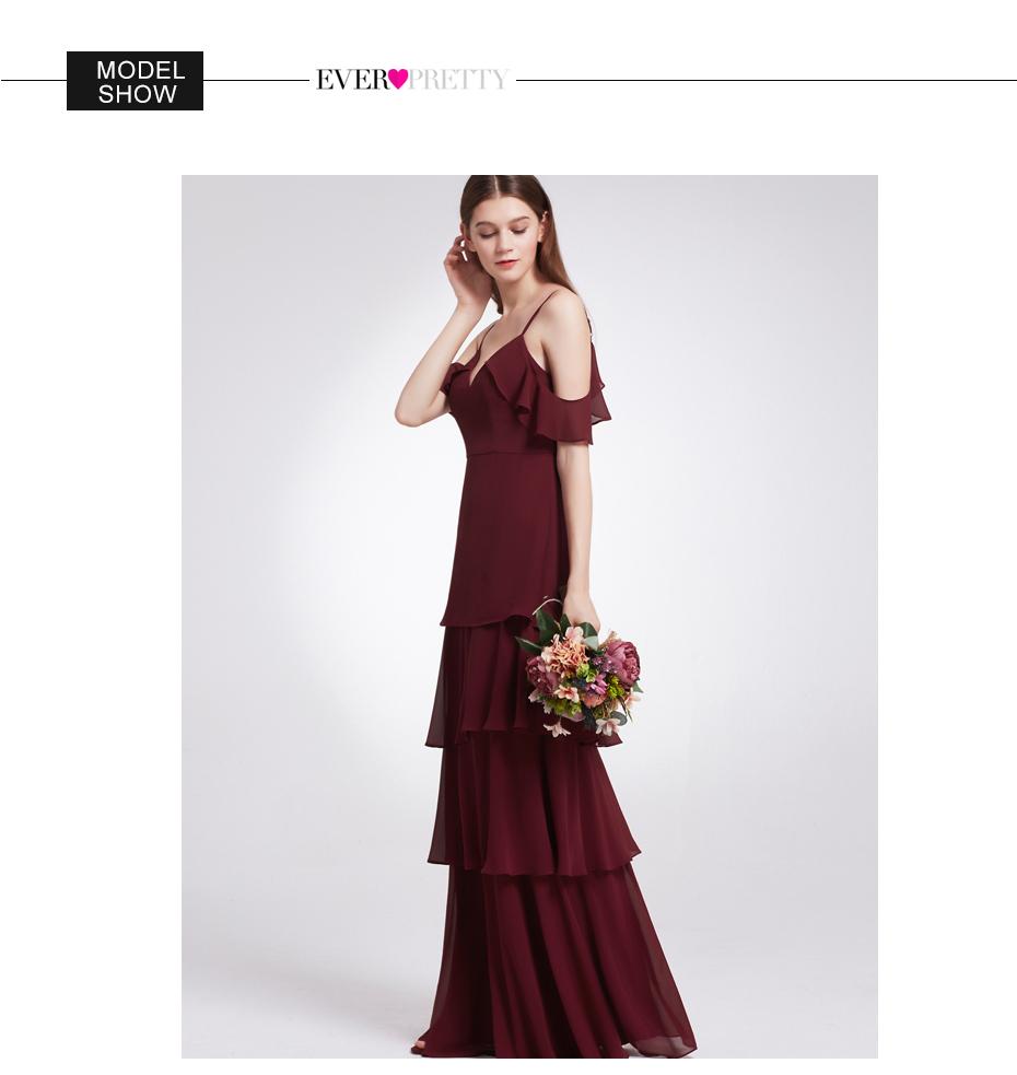 Ever-Pretty Long Homecoming Dresses Burgundy Spaghetti Strap Wedding ... fa0d0e5ee965